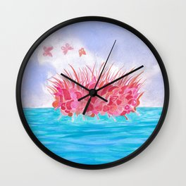Sunrise over the sea Wall Clock
