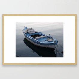Kavala Row Boat Framed Art Print