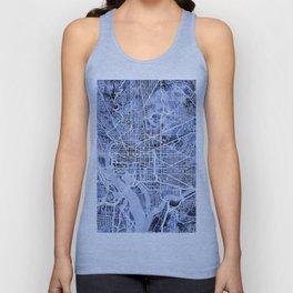 Washington DC Street Map Unisex Tank Top