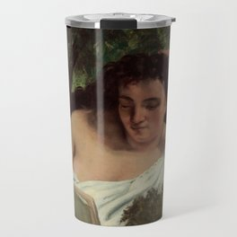 Gustave Courbet - A Young Woman Reading Travel Mug