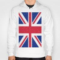 british flag Hoodies featuring British flag mosaic by Zora Zora