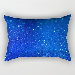 Abstract blue bokeh light background Rectangular Pillow