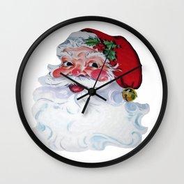 Vintage Santa Claus Jolly Face and Rosy Cheeks Wall Clock