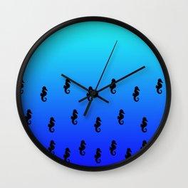 Under the Sea(horse)-Light to Dark Wall Clock