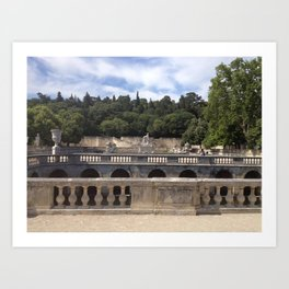 Jardins de la Fontaine Art Print