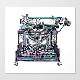 Magical Typewriter Canvas Print