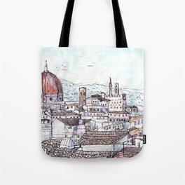 Florence at Dusk from Palazzo Magnani Feroni Tote Bag