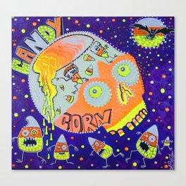 Haunted Candy Corn Canvas Print