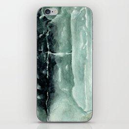 Green Calcite Crystal Watercolor iPhone Skin