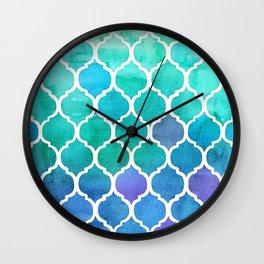 Emerald & Blue Marrakech Meander Wall Clock