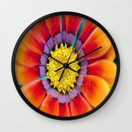 Flower with multiple colors Wall Clock