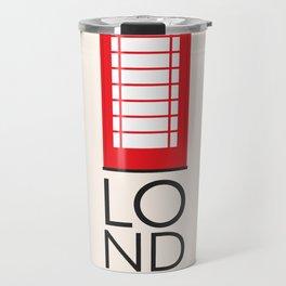 London Inspired: Phone Booth Travel Mug
