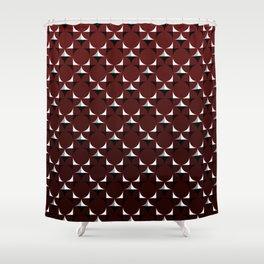 Mod Burgundy Shower Curtain
