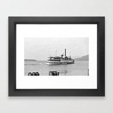 Ticonderoga Side Wheeler Steamboat Framed Art Print