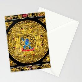 Buddhist Mahakala Mandala Golden Kalarupa Stationery Cards