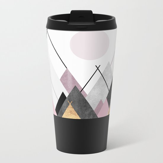 Nordic Mountains Metal Travel Mug