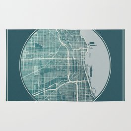 Chicago Map Planet Rug