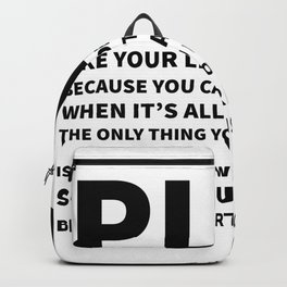 Heart Is All You Got Typography Backpack