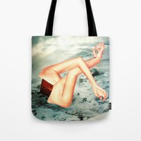camp Tote Bags featuring Camp by Erin Case