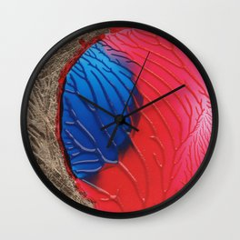 The tree of life gold abstract Wall Clock