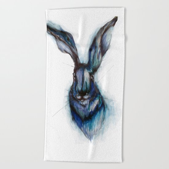 Blue Hare Beach Towel