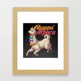 Dappa' Alpaca Framed Art Print