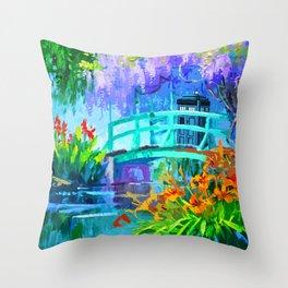 Tardis Art And The Bridge Throw Pillow