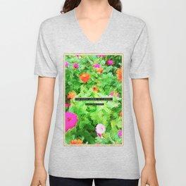 Emerson on Flowers Unisex V-Neck
