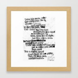yoke Framed Art Print