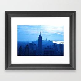 Rhaposdy in Blue Framed Art Print