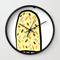 popsicle Wall Clocks featuring Popsicle by Ena Jurov