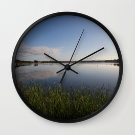 Reeds at the water's edge Wall Clock
