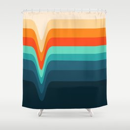 Retro Verve Shower Curtain