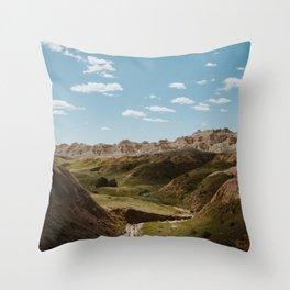 Yellow Mounds - Badlands National Park Throw Pillow