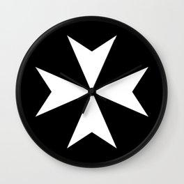 Hospitaller Cross Wall Clock