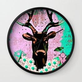 Deer Abstract Wall Clock