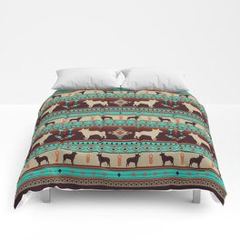 Boho dogs | Australian cattle dog sunset Comforters