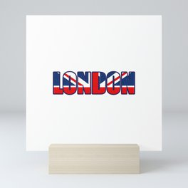 London in British Flag Mini Art Print