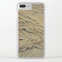 STREAMING BEACH SAND RIPPLES ABSTRACT Clear iPhone Case