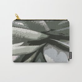 Aloe Vera Details Abstract Carry-All Pouch