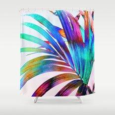 Multicolor Palm Leaf Shower Curtain