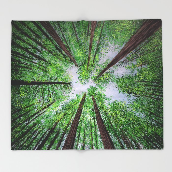 Reaching for the sky - Throw Blanket