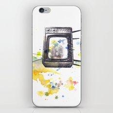Retro Television Painting iPhone & iPod Skin