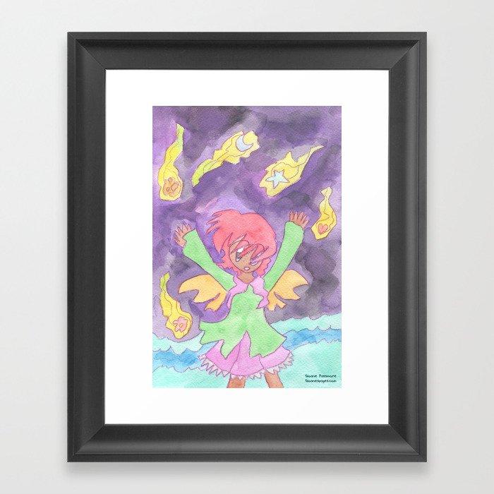 Hug the Stars Framed Art Print
