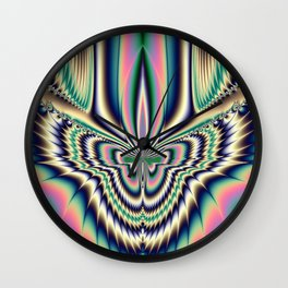 Fractal Moth Wall Clock