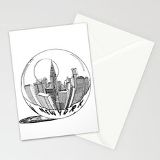 New York in a glass ball Stationery Cards