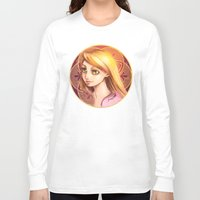 rapunzel Long Sleeve T-shirts featuring Rapunzel by Vincent Vernacatola