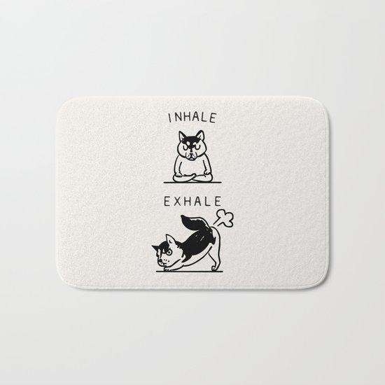 Inhale Exhale Husky Bath Mat