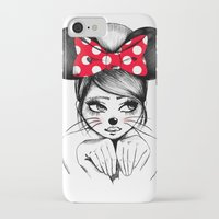 minnie iPhone & iPod Cases featuring Minnie by theavengerbutterfly