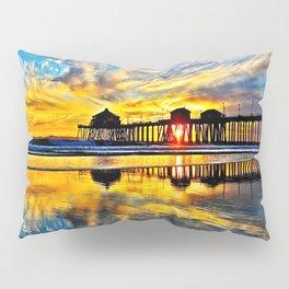 Sunset ~ Huntington Beach Pier CA  11/7/13 Pillow Sham
